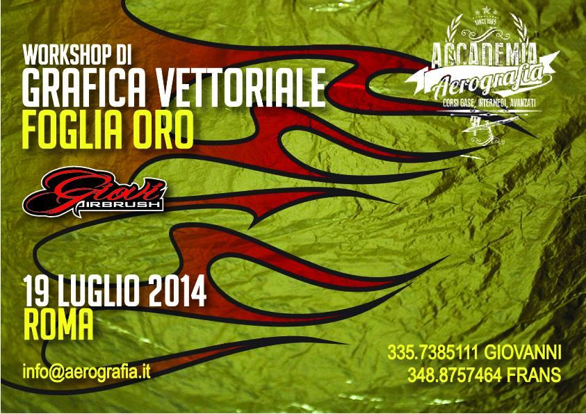 Workshop di Grafica Vettoriale e Foglia Oro a Roma