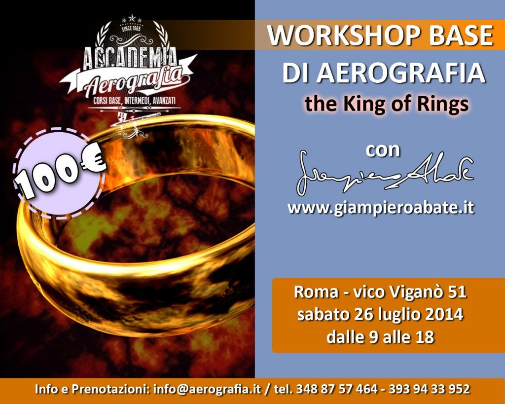 Workshop Base Aerografia a Roma King of Rings