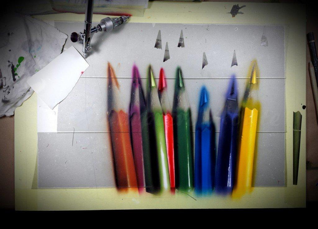 Giampiero Abate - Colored Pencil - Acrylic on illustration board 50x35 cm - 2014